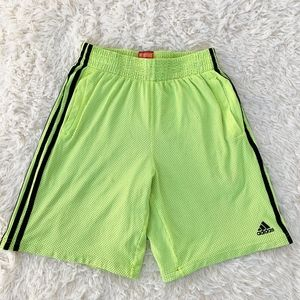 ADIDAS Lime Green Lined Men's Basketball Shorts